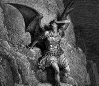 Gravura de Gustave Doré, Satan, Wikipedia.