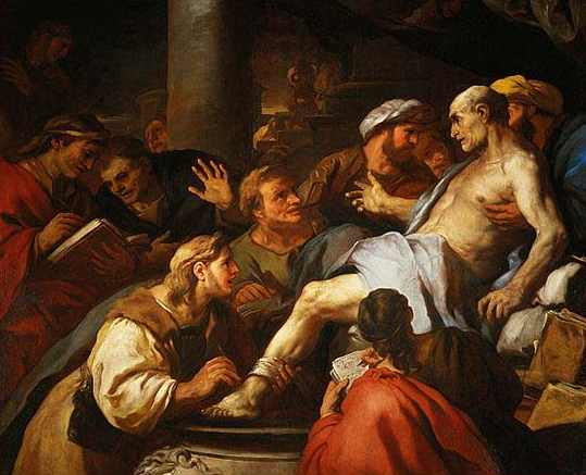 Moartea lui Seneca, tablou de Luca Giordano, muzeul Louvre, Paris, sursă Wikipedia.