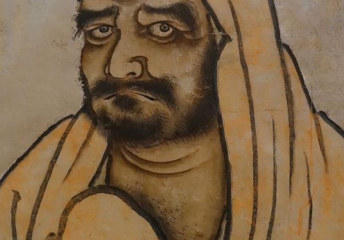 Bodhidharma_by_Unkei_Ikkei,_Japan,_1504-1520_AD,_ink_on_paper,_detail_-_Linden-Museum_-_Stuttgart,_Germany_-_DSC03631