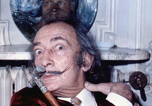 Portretul lui  Salvador Dali, realizat deAllan Warren, sursă Wikipedia.