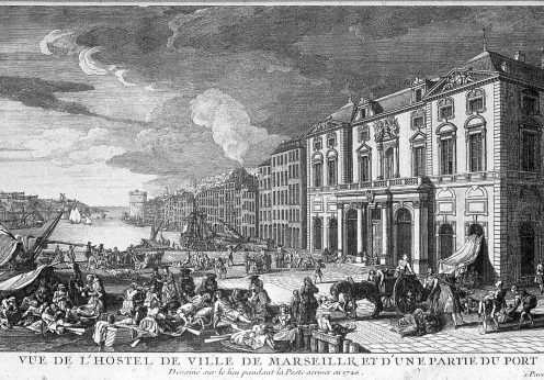 The_port_of_Marseille_during_the_plague_of_1720._Etching_by_Wellcome_L0007448